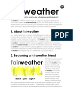 Fair Weather concept and proposition