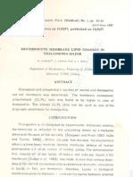 Erythrocyte Membrane Lipid Changes in Thalassemia Major
