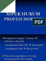 Aspek Hukum Profesi Dokter