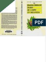 Malinowski B 1989 Diario de Campo en Melanesia Gijon Jucar Universidad