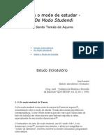 Sobre o Modo de Estudar