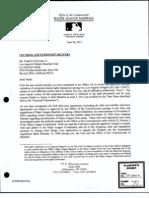 Selig Letter Rejecting Mccourt Fox Deal
