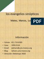 Los Evangelios Sinopticos Ppt 2007
