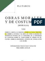 Tomo VIII - OBRAS MORALES Y DE COSTUMBRES - Plutarco - SOBRE LA FALSA VERGÜENZA
