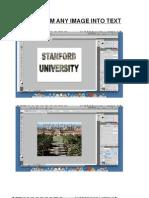 Photoshop Image Text Steps
