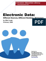 Comparison of Electronic Stock Data Sources