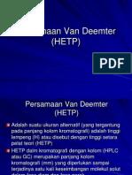 Persamaan Van Deemter