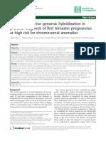 Array Comparative Genomic Hybridization In