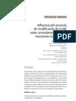 Influencia Proyect Nic Arrendamientos