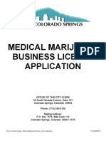 Business Licensing Medical Marijuana Application Packet