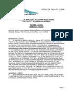 Business Licensing Medical Marijuana Rules and Regulations