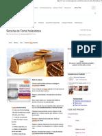 Receitas Supreme – Receita de Torta holandesa