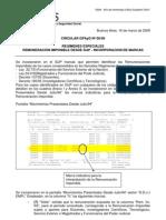 GPAyD06-09 Regímenes Especiales Marcas remuneración  imponible