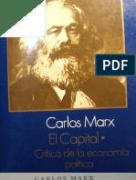 Marx, k. El Capital - Tomo i