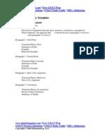 GMAT AWA Analytical Writing Assessment Template