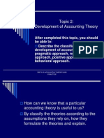 2. Development of Acc Theory
