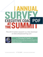 2013 Executive Coaching Survey