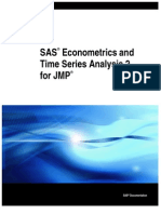 SAS JMP Econometric Time Series Analysis