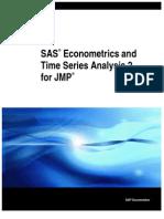 SAS JMP Econometric Time Series Analysis
