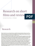 Research on Short Films and Reviews.