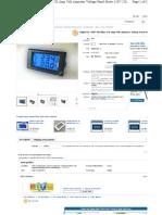 Digital AC 300V 50A Blue LCD Amp Volt Ammeter Voltage Panel Meter 110v 220v