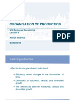 Lecture8 Organisation of Production Wk8