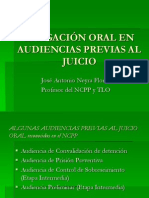 Litigación oral en audiencias previas al juicio 27.10