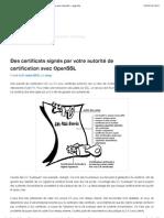 Des certificats signés par votre autorité de certification avec OpenSSL - Jeyg.info