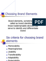Choosing Brand Elements