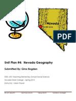 EDEL453 Spring2013 GinaBOGDEN Unit 4 Geography PLANNER