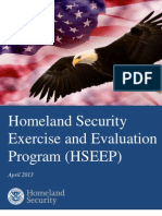 Homeland Security Exercise and Evaluation Program (HSEEP) - April 2013