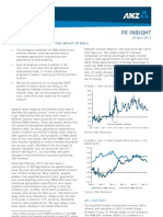 ANZ FX Insight - Offshore RMB Rates and the Impact of RQFII