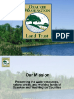Workshop B Role of Land Trusts in Urban and Rural Water Quality Ozaukee Washington Land Trust Shawn Graff