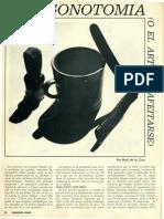 Pogonotomia o El Arte de Afeitars, Recomendaciones. Enero1966.