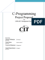 Project Proposal on C-programming {Library Management System}