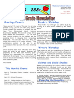 4th Grade April Newsletter 2009