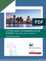 VI Foro Legal Brochure y Operativo