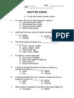 Matter Exam