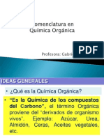 nomenclatura qca organica