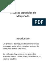 Procesos Especiales de Maquinado