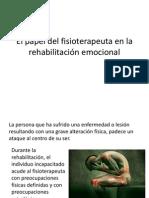 El papel del fisioterapeuta en la rehabilitación emocional