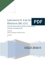LAB4(Usos de Generador de Ondas y Osciloscopio Circuitos Transitorios RC).docx