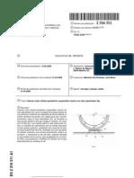 Colector solar cilindro-parabólico suspendido rotante con tubo absorbedor fijo.