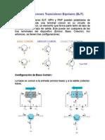 Configuraciones Transistores Bipolares