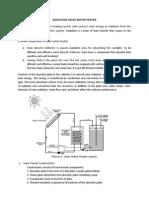 Radiation Solar Water Heater