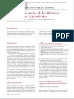 15.054 Indicaciones de Empleo de Las Diferentes Modalidades de Oxigenoterapia
