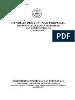 Panduan Penyusunan Proposal Bantuan Sosial DPKS 2013, Revisi