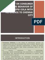 consumer buying behaviour of pepsi cola