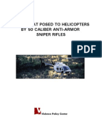 The Threat Posed to Helicopters by 50 Caliber Anti-Armor Sniper Rifles