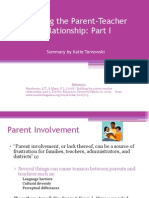 Building the Parent-teacher Relationship